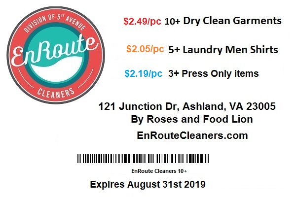 dry cleaner coupons Ashland